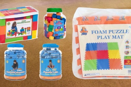 contest giveaway of $130 value of foam toys