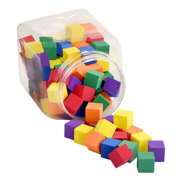 Foam Counting Color Cubes for Children