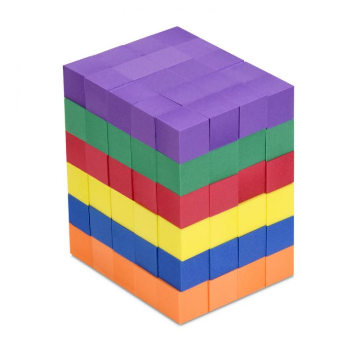Foam Color Cubes Assembled into a Cuboid
