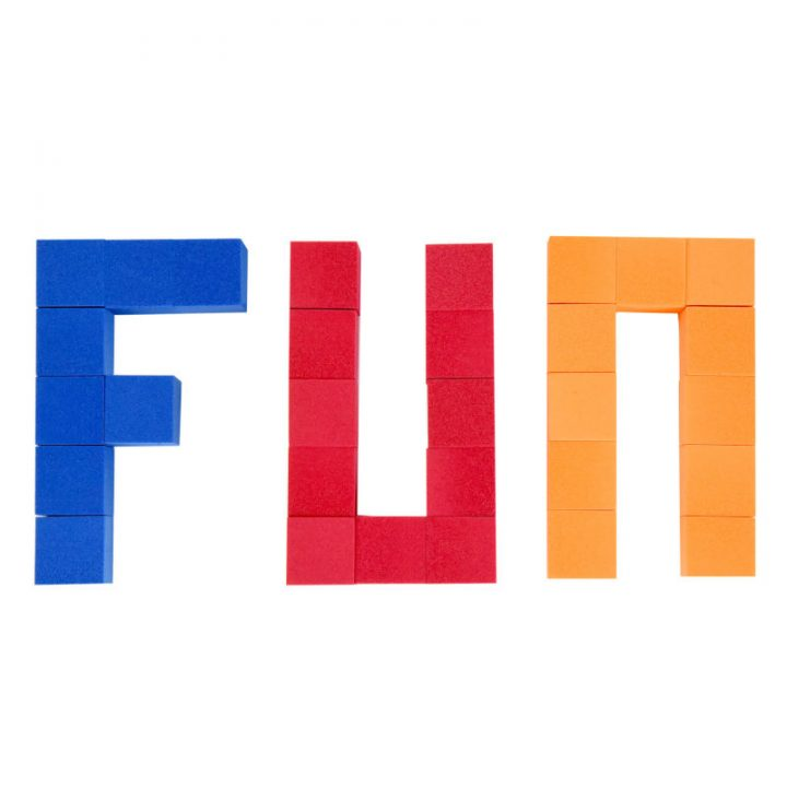 Foam Color Cubes Making the Word Fun