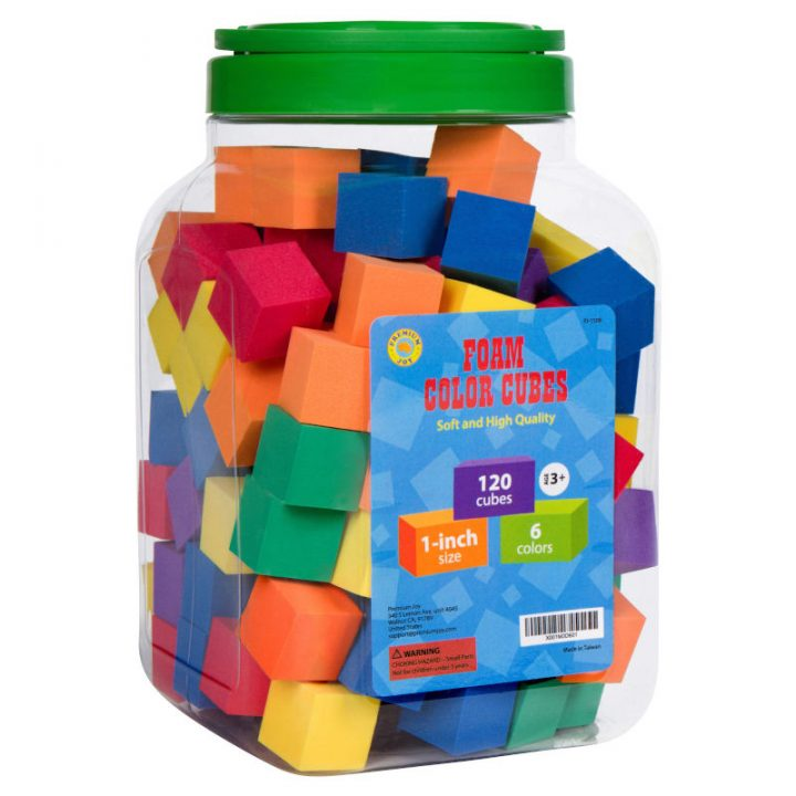 Foam Counting Color Cubes Packaging