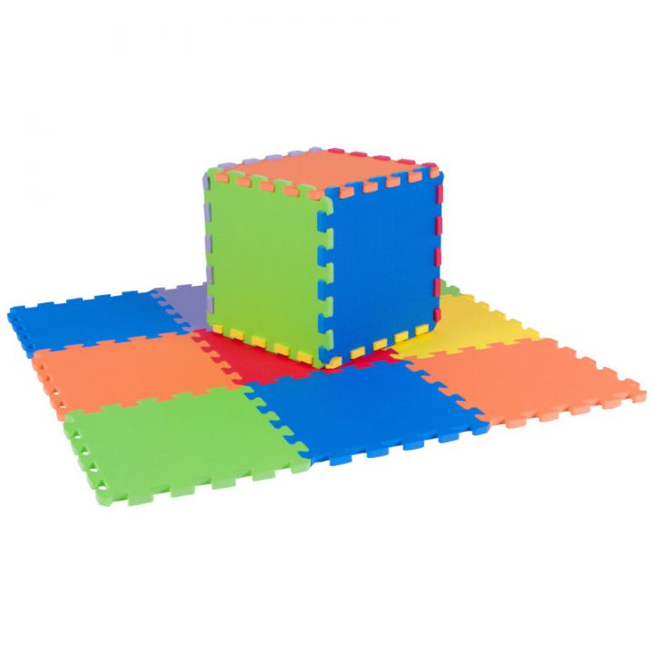 Assembled Cube Using Foam Puzzle Mats