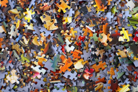 Many Pieces of Jigsaw Puzzle