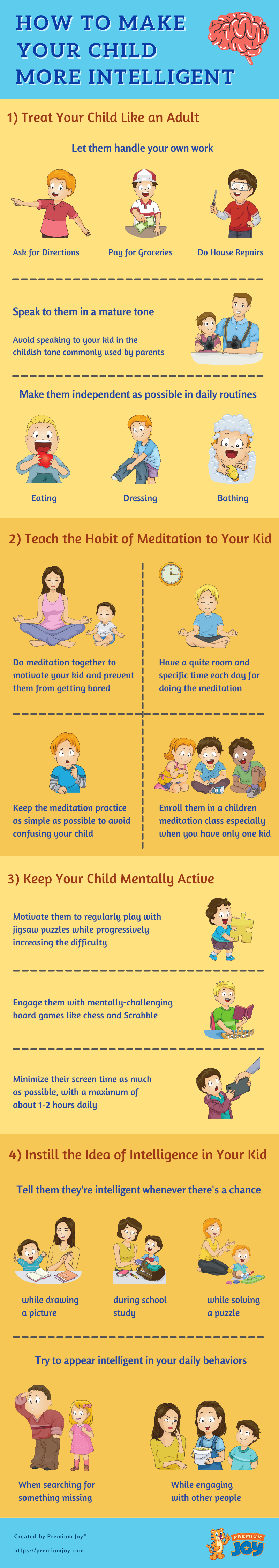 how to make your child more intelligent - infographic
