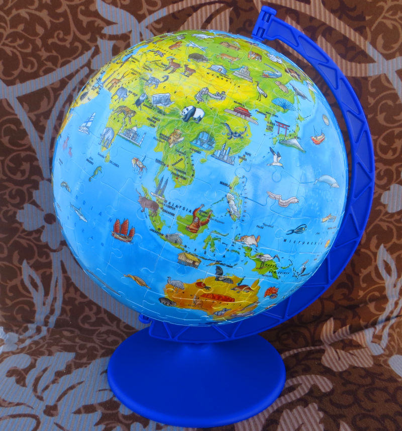 kids 3d puzzle of earth globe