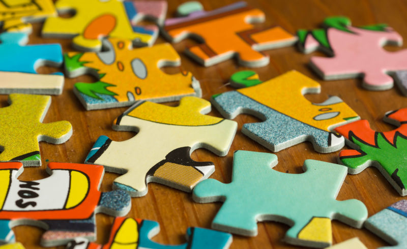 colorful puzzles for kids to solve