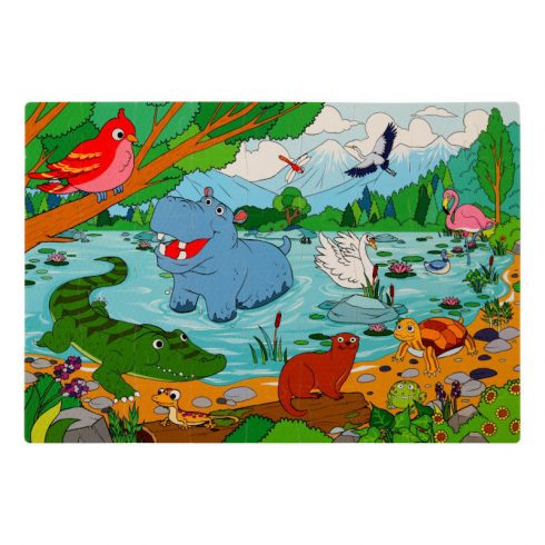 Assembled Image of Lake Foam Jigsaw Puzzle